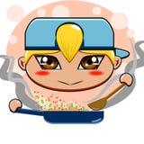 TARGET228_1_ smażący ryż Fotografia Royalty Free