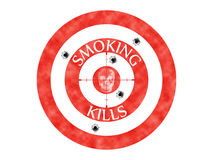 Target Smoking Kills Skull Skeleton Headshot Stock Photography