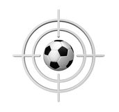 Target soccer Royalty Free Stock Photos