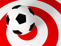 Target soccer ball Stock Photos
