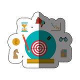 Target and social media icon set Royalty Free Stock Photo