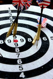Target. A target with some arrows Stock Photo