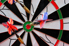 Target. A target with some arrows Stock Image