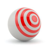 Target sphere Royalty Free Stock Photography