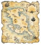 target611_0_ sposób mapa pirat Zdjęcia Stock