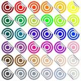 Target stickers Stock Photos