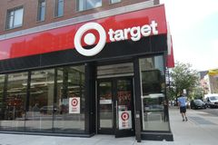 Target Store. A Target store in the East Village of New York City. Target Corporation is the second-largest department store retailer in the United States stock photo