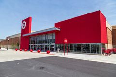 Target Store in Lancaster. Lancaster, PA, USA - May 2, 2018: Target, an American retailer of consumer clothing, electronics, health, beauty, food, groceries and royalty free stock image
