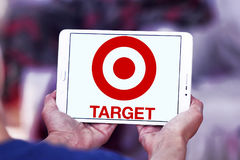 Target stores logo. Logo of the international chain of convenient stores target on samsung tablet Stock Photography