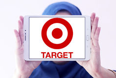 Target stores logo. Logo of the international chain of convenient stores  target on samsung tablet holded by arab muslim woman Stock Photo