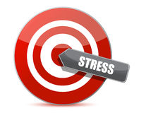 Target stress bulls eye illustration design Stock Photo