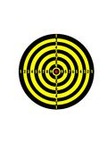 Target is striped with yellow and black lines Royalty Free Stock Image