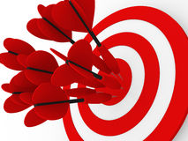Target. Success concept. 3d illustration. Target. Success concept. 3d render illustration Stock Image