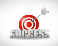 Target success concept illustration design Royalty Free Stock Image