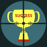 Target Success Cup Royalty Free Stock Image