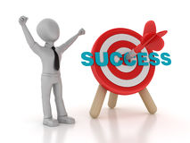 Target with Success Word and Businessman Stock Images