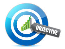 Target successful objective illustration design Stock Photography
