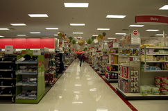 Target superstore holiday decoration christmas shopping Stock Photos