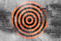 Target symbol on grunge cement wall Stock Photo