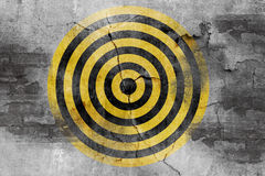 Target symbol on grunge cement wall Stock Images