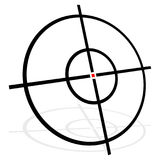 Target symbol  on white. Accuracy, target, aiming concep Stock Images