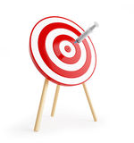 Target with a syringe. On a white background Royalty Free Stock Photography