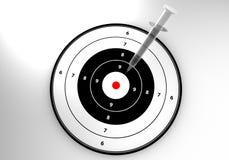 Target with syringe Royalty Free Stock Image