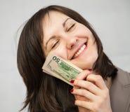 target2325_1_ target2326_0_ bizneswomanów dolary Fotografia Royalty Free