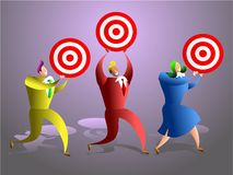 Target team Stock Photography