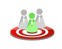 Target teamwork concept illustration. Design over a white background Stock Image