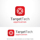 Target Tech Logo Template Design Vector, Emblem, Design Concept, Creative Symbol, Icon. This design suitable for logo or icon Royalty Free Stock Photography