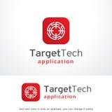 Target Tech Logo Template Design Vector, Emblem, Design Concept, Creative Symbol, Icon Royalty Free Stock Photography