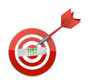Target test illustration design Royalty Free Stock Photo