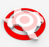 Target Texas - Marketing Concept Royalty Free Stock Image