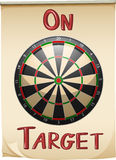 On target text and concept Royalty Free Stock Image