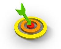 Target with three arrow Stock Photos