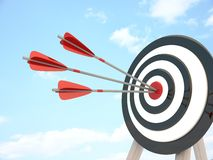Target and three arrow Stock Images