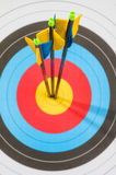 Target with three arrows in the center Royalty Free Stock Photography