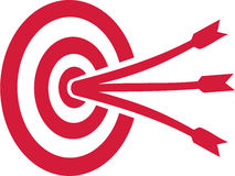 Target with three arrows Stock Image