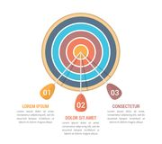 Target with Three Arrows. Three steps or options infographics royalty free illustration