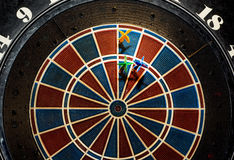 Target with three darts Stock Photography