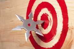 Target and the throwing weapon. Stock Image