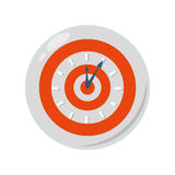 Target time clock isolated icon Stock Image