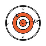 Target time clock isolated icon Royalty Free Stock Photography