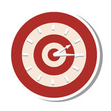 Target time clock isolated icon Royalty Free Stock Images