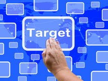 Target Touch Screen Shows Aims Objectives Stock Images