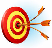 Target with two arrows. Illustration of a target with two arrows Royalty Free Stock Image