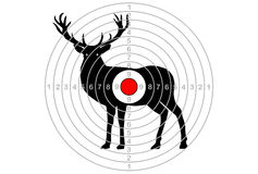 The target vector elk, deer Stock Photography