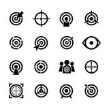 Target vector icons set Royalty Free Stock Photos