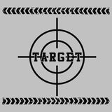 Target. Vector illustration for children clothes for wallpaper Royalty Free Stock Images